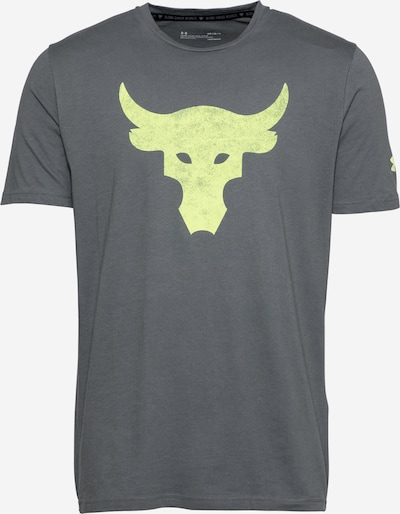UNDER ARMOUR T-Shirt fonctionnel 'Rock Brahma Bull' en gris / vert clair, Vue avec produit