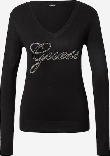 GUESS Pullover 'DORIANE' in schwarz / silber, Produktansicht