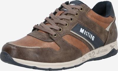 MUSTANG Sneaker in dunkelblau / braun / kastanienbraun, Produktansicht