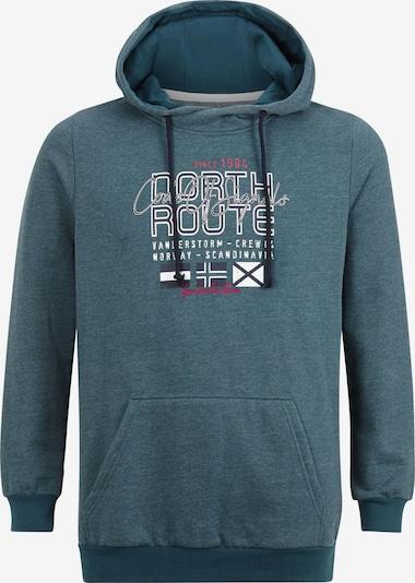 Jan Vanderstorm Sweat-shirt 'Bothi' en bleu marine / pétrole / rose / blanc, Vue avec produit