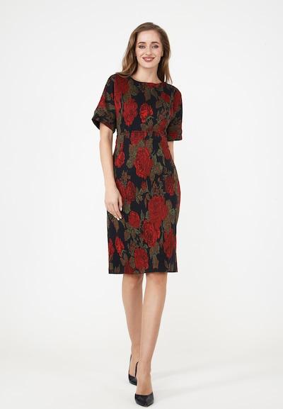 Madam-T Etuikleid 'ALTEA' in rot / schwarz, Modelansicht