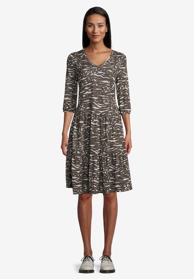 Vera Mont Sommerkleid mit Stufen in khaki, Modelansicht