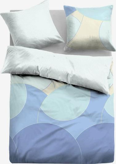 TOM TAILOR Bed Satin Bettwäsche gemustert in hellblau / weiß, Produktansicht