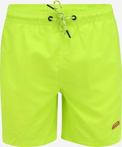 Superdry Shorts de bain 'VENICE' en vert fluo / rouge / noir, Vue avec produit