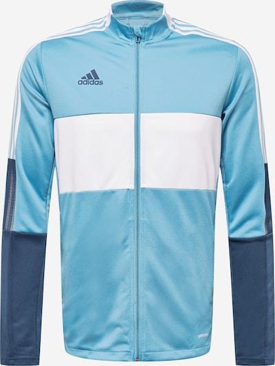 Sportinė striukė 'TIRO' iš ADIDAS PERFORMANCE , spalva - tamsiai mėlyna / šviesiai mėlyna / balta, Prekių apžvalga