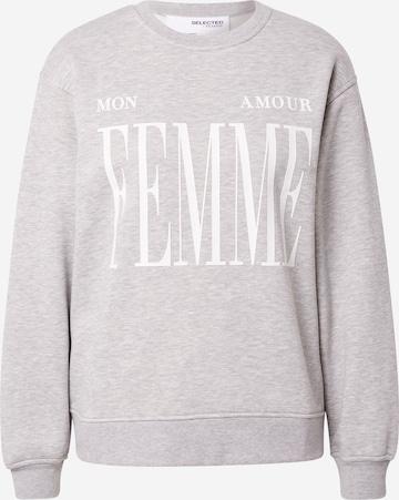 SELECTED FEMME Sweatshirt in Grey