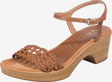 UNISA Sandalette 'Ilobi' in Braun