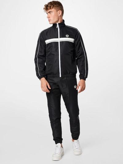 Sergio Tacchini Trainingsanzug in schwarz / weiß: Frontalansicht