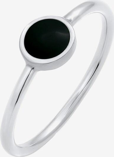 ELLI Bague en noir / argent, Vue avec produit
