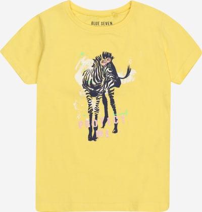 BLUE SEVEN T-Shirt in gelb / pink / schwarz, Produktansicht