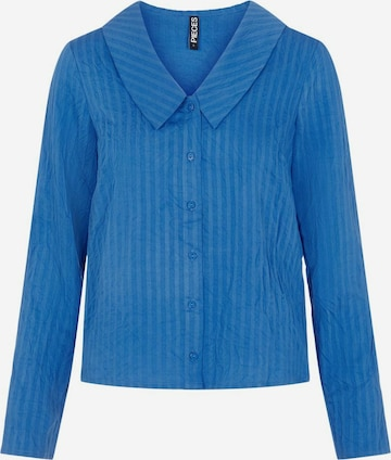 PIECES Bluse 'PCSOLTY' in Blau