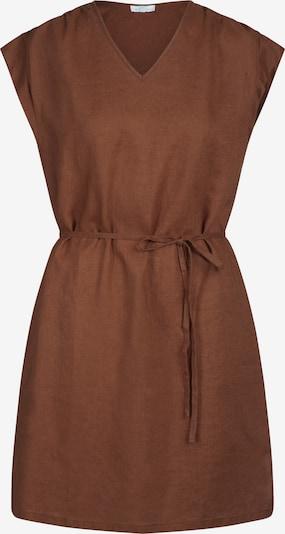 mint & mia Kleid mit Bindegürtel mit V-Ausschnitt in braun, Produktansicht