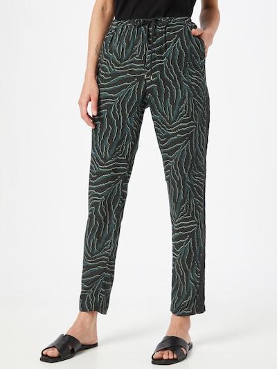 OPUS Broek 'Ma' in de kleur Groen / Donkergroen, Modelweergave