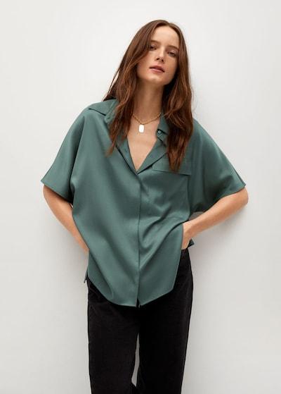 MANGO Blouse 'Marita' in de kleur Smaragd, Modelweergave