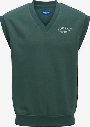 JACK & JONES Sweatshirt 'Tobias' in smaragd / weiß, Produktansicht