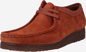Clarks Originals Schnürschuh 'Wallabee' in Rot