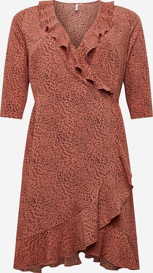 ONLY Carmakoma Kleid in braun / schwarz: Frontalansicht