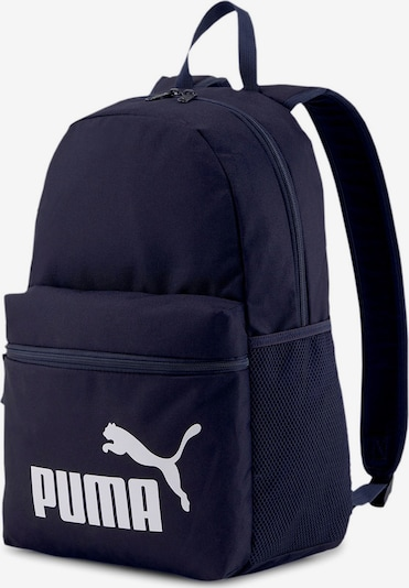 PUMA Rucksack in dunkelblau / weiß, Produktansicht