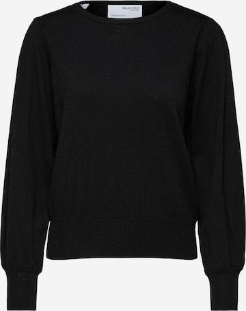 melns Selected Femme Curve Džemperis 'MANDA'