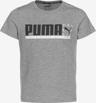 PUMA T-Shirt in hellgrau / schwarz, Produktansicht