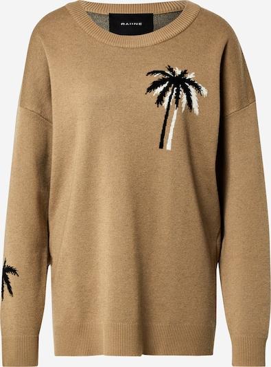 RAIINE Pullover in dunkelbeige / grau / schwarz, Produktansicht