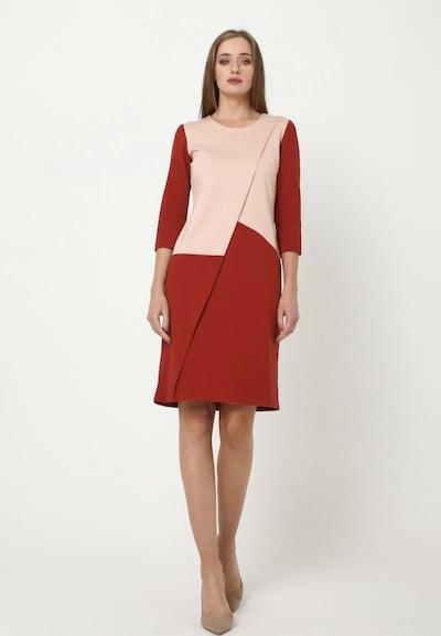 Madam-T Kokerjurk 'ELMA' in de kleur Rood, Modelweergave