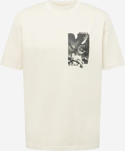 BOSS Casual T-Shirt 'Touché' in creme / schwarz, Produktansicht