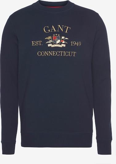 GANT Sweat-shirt en marine / citron vert / or / rouge feu, Vue avec produit