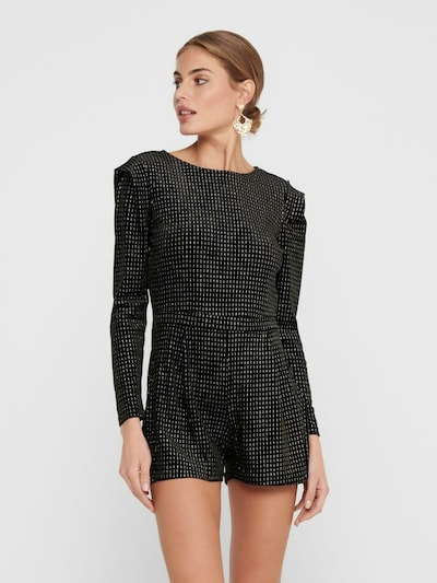 ONLY Jumpsuit in de kleur Zwart / Zilver, Modelweergave