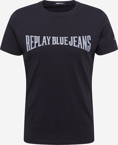 REPLAY Shirt in hellblau / schwarz, Produktansicht