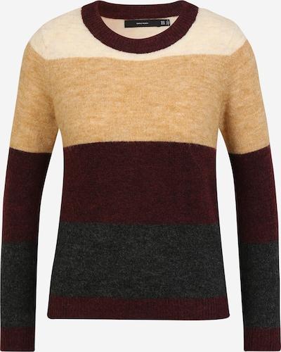 Vero Moda Petite Sweater 'PLAZA' in Light beige / mottled beige / Dark grey / Wine red, Item view