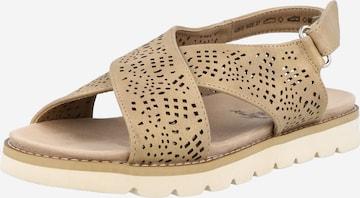 Xti Sandały w kolorze beżowy