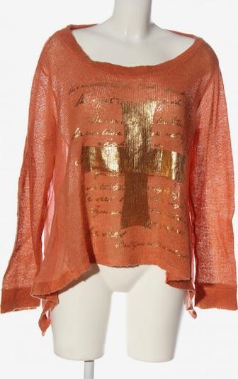 BLEIFREI Lifewear Oversized Pullover in M in bronze / rot, Produktansicht