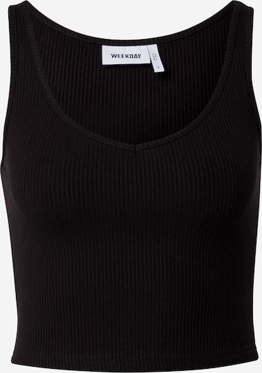 WEEKDAY Top 'Novella' in schwarz, Produktansicht
