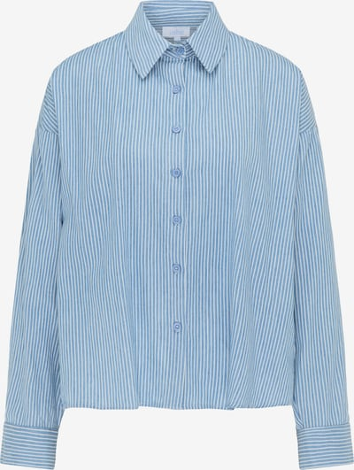 Bluză usha BLUE LABEL pe albastru deschis / alb, Vizualizare produs
