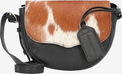 Amsterdam Cowboys Umhängetasche 'Lina' in braun / schwarz / weiß, Produktansicht