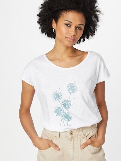 GREENBOMB Shirt in türkis / weiß: Frontalansicht