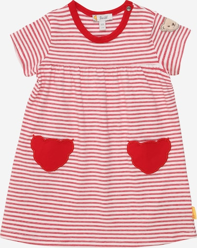 Steiff Collection Kleid in kitt / rot / pastellrot / weiß, Produktansicht