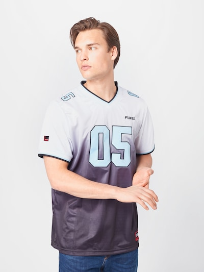 FUBU Sportshirt in hellblau / schwarz / weiß: Frontalansicht
