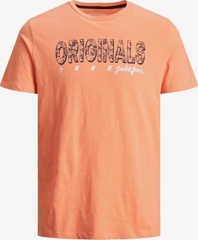 JACK & JONES T-Shirt 'LEFO' in dunkelblau / orangemeliert / weiß, Produktansicht