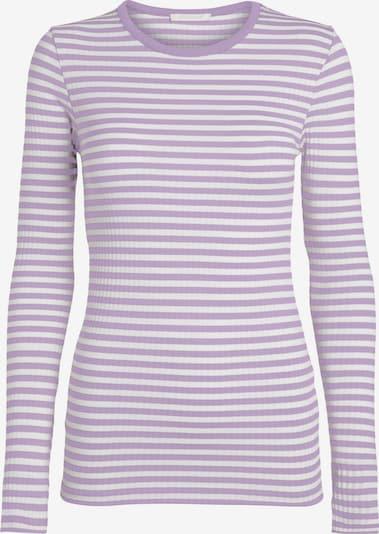 PIECES Shirt in lila / weiß, Produktansicht