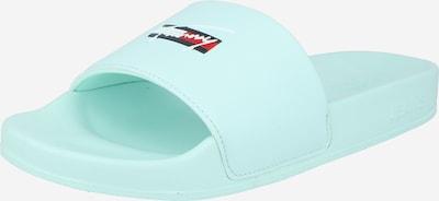Tommy Jeans Claquettes / Tongs en bleu clair / rouge / blanc, Vue avec produit