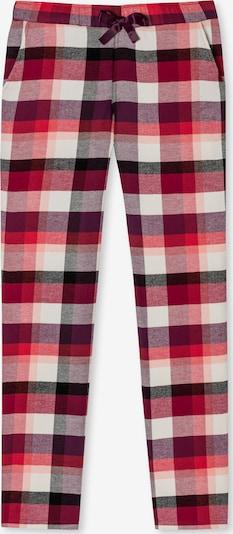 SCHIESSER Pyjamabroek ' Mix & Relax kariert ' in de kleur Beige / Rood, Productweergave