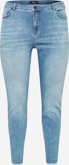 Zizzi Jean 'ZINE' en bleu denim, Vue avec produit