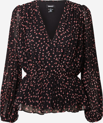 DKNY Blouse in de kleur Lichtrood / Zwart, Productweergave