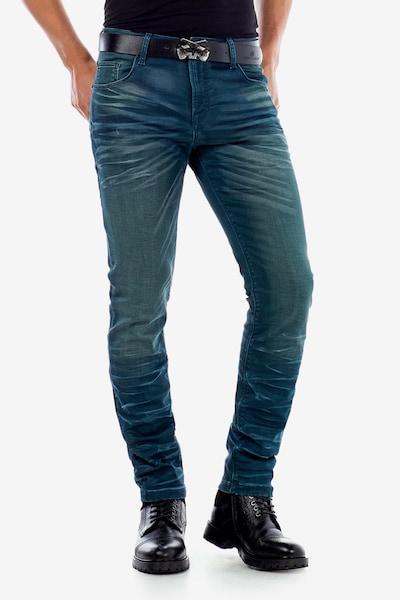 CIPO & BAXX Jeans 'CD492' in grün, Modelansicht