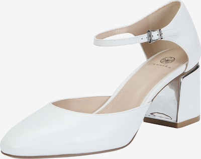 Ekonika Elegante Slingpumps aus echtem Leder in weiß, Produktansicht