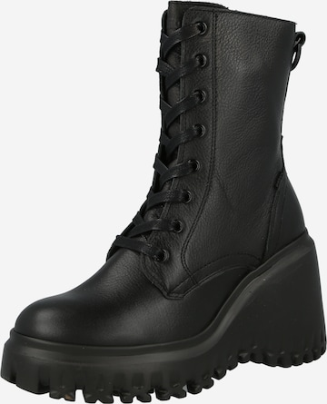 BRONX Lace-Up Ankle Boots in Black