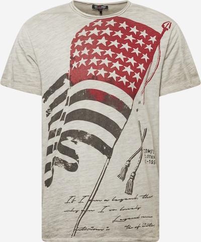 Key Largo T-Shirt 'BANNER' in graumeliert / rubinrot, Produktansicht