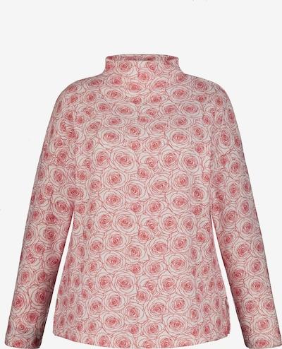 Ulla Popken Pullover in pink / offwhite, Produktansicht